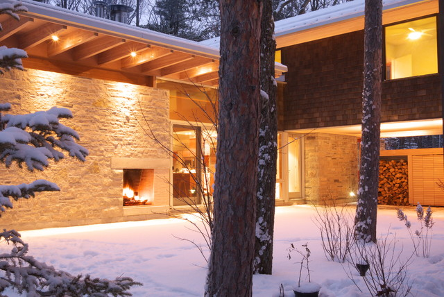Tiny Township Cottage 01 contemporary-exterior