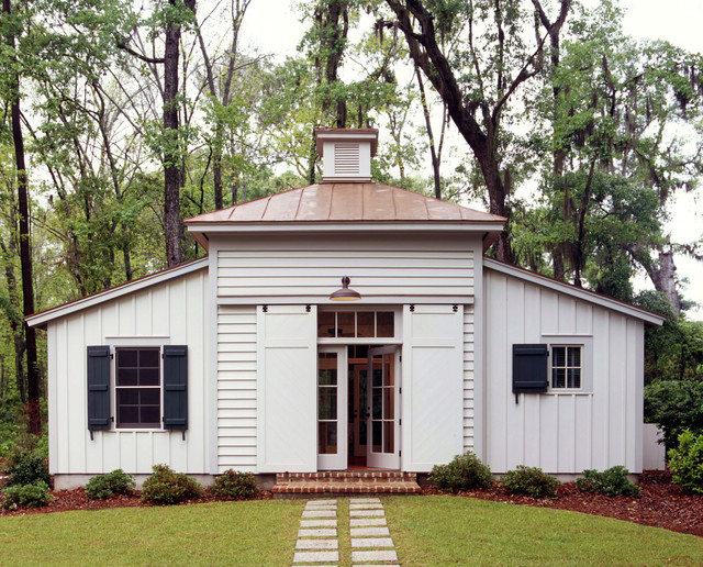 Tobacco barn guest house traditional exterior by for Tobacco barn house plans