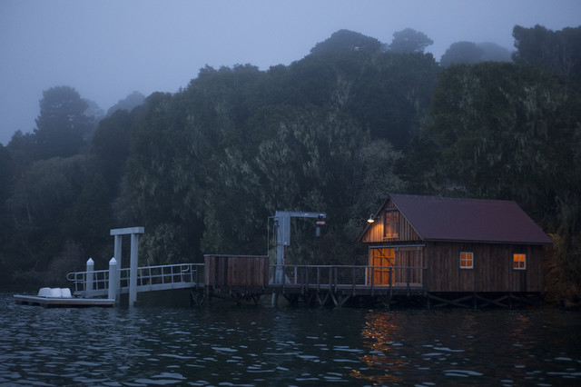 Tomales Bay Boat House traditional-exterior