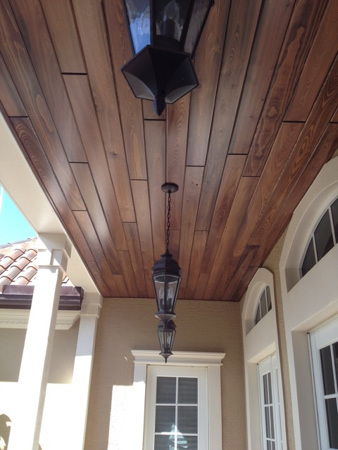 Tongue Groove Ceiling Level 1 Exterior Miami By Bennett Carpentry Inc