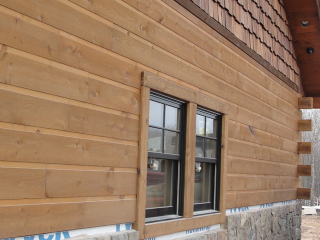 tongue and groove without chinking adirondack siding rustic exterior other by woodhaven