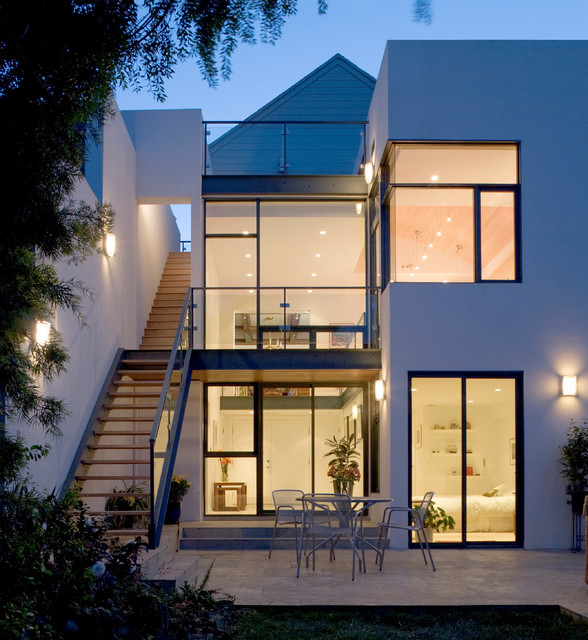 Townhouse addition contemporary exterior san for Modern townhouse plans