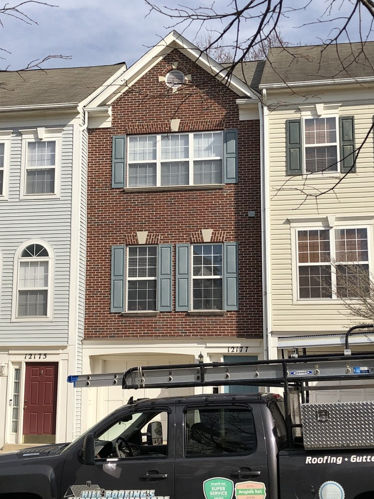 Townhouse Roof Replacement Traditional Exterior Dc