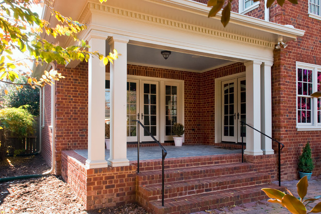 Traditional Brick Exterior With Columns