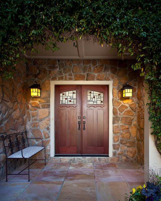 Front door custom design traditional exterior other for Door design houzz