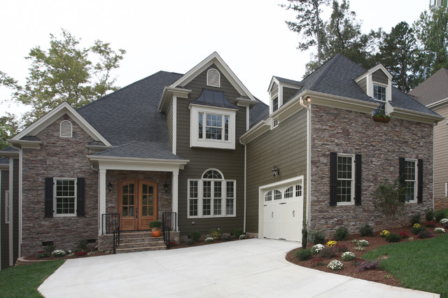 Gray And White Exterior House Concept Interior Custom Home Exterior  Traditional  Exterior  Raleigh .