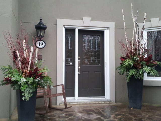 Winter Container traditional-exterior