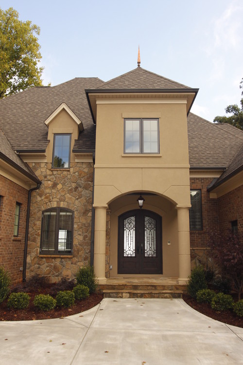 What are the brick rock and stucco colors it is beautiful for Stucco stone exterior designs
