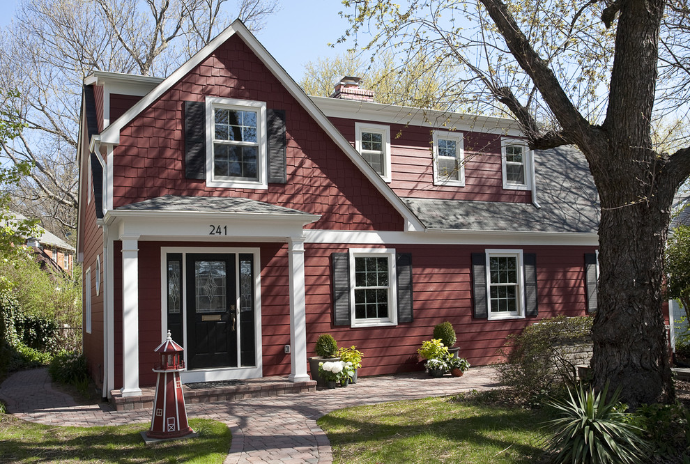 Inspiration for a timeless wood exterior home remodel in DC Metro
