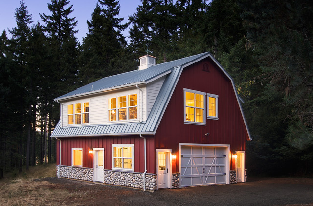 Country Wood Exterior Home Photo In Other With A Gambrel Roof