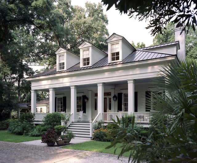 lowcountry greek revival spring island south carolina traditional exterior - Greek Revival Cottage