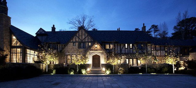 House With Tudor Outdoor Lighting Traditional Exterior Elighterfo