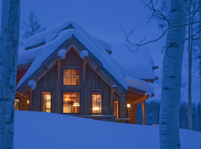 Red Creek Timber Frame traditional exterior