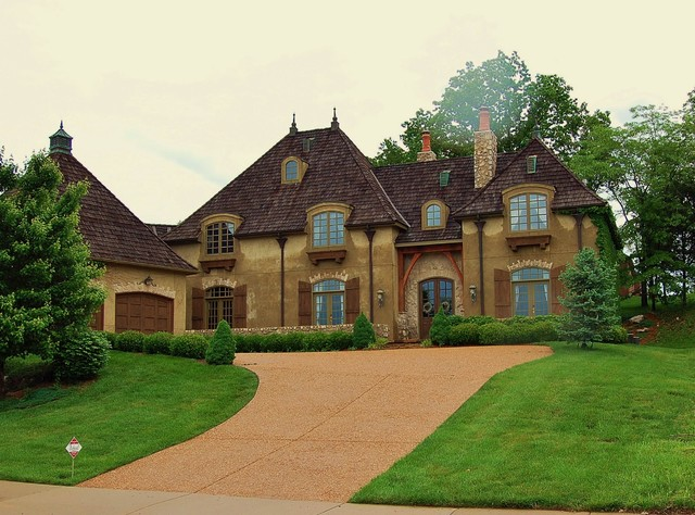 French country manor house traditional exterior for French manor homes