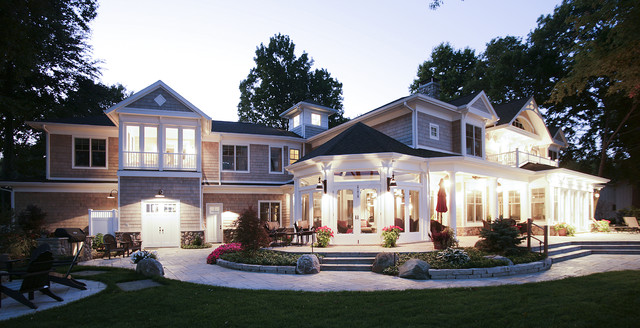 Lakefront Elevations traditional exterior