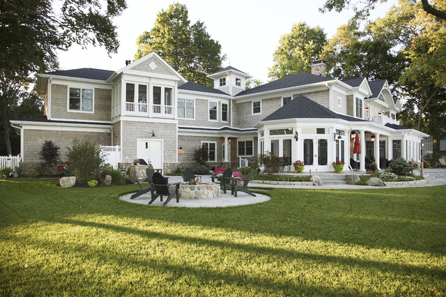 Lakefront Elevation traditional-exterior