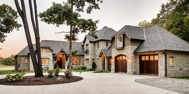 French Country Home Traditional Exterior Chicago