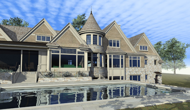 Hampton's Country Poolside traditional-exterior