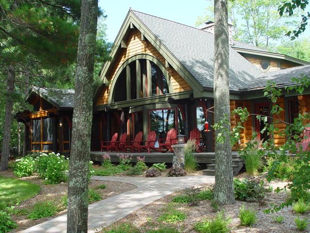 Lake cabin exterior colors joy studio design gallery for Cabin exterior paint colors