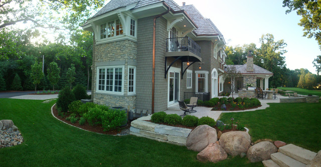 07 golf course residence traditional exterior for Exterior design courses