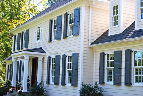 Exterior window trim installation method.