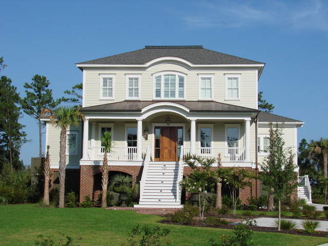 Traditional Lowcountry Elevated Home Traditional