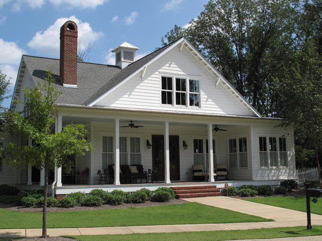 Traditional Southern Style Farmhouse Exterior Birmingham on 3 Car Garage With Mudroom House Plan