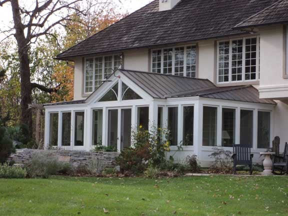 Traditional sunroom addition exterior traditional for Building a sunroom addition