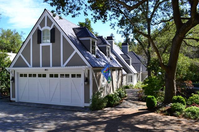 Traditional Tudor style house exterior