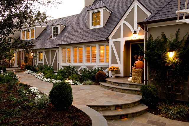 Traditional Tudor style house traditional-exterior