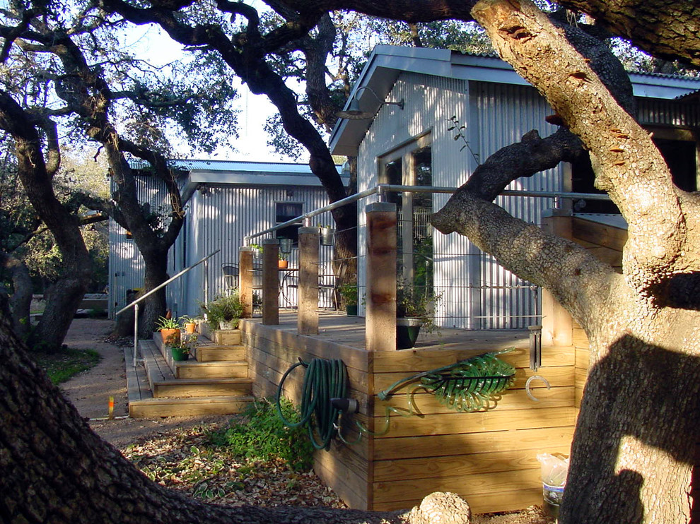 Inspiration for an industrial exterior home remodel in Austin