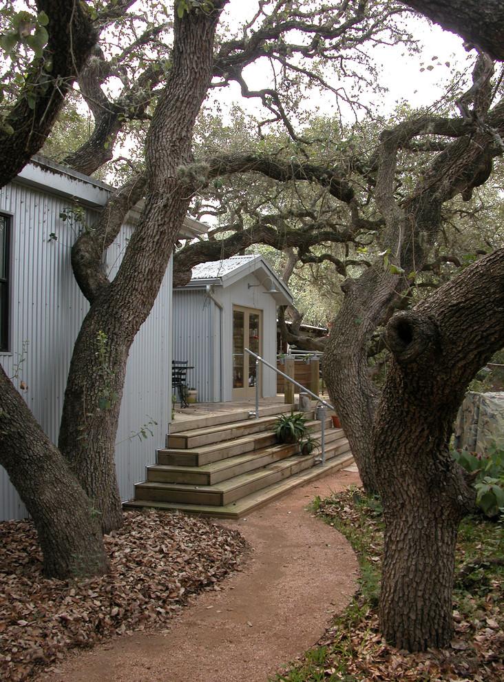Eclectic exterior home idea in Austin