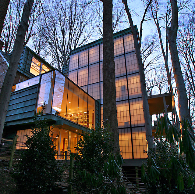 Transformed English Cottage modern-exterior