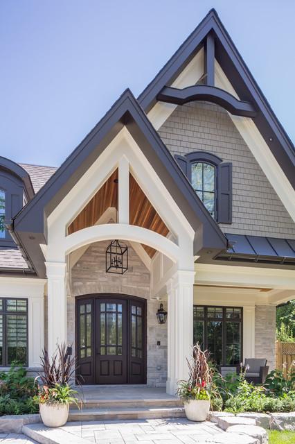 Transitional craftsman custom home transitional for Custom home exterior design