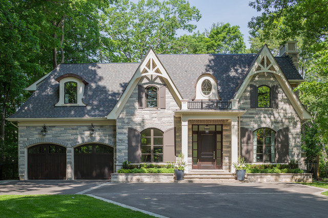 Transitional elegance traditional exterior toronto for Home designs ontario