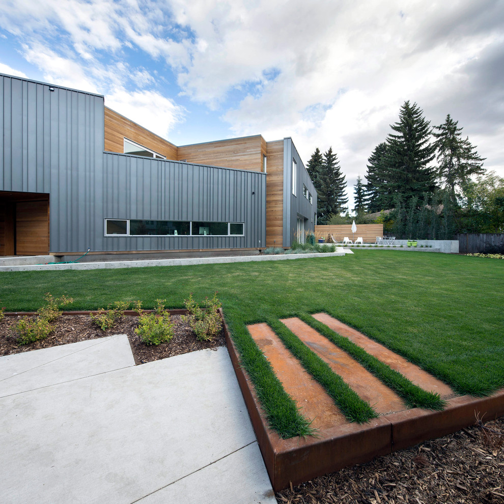 Trapezoid House - Contemporary - Exterior - Edmonton - by