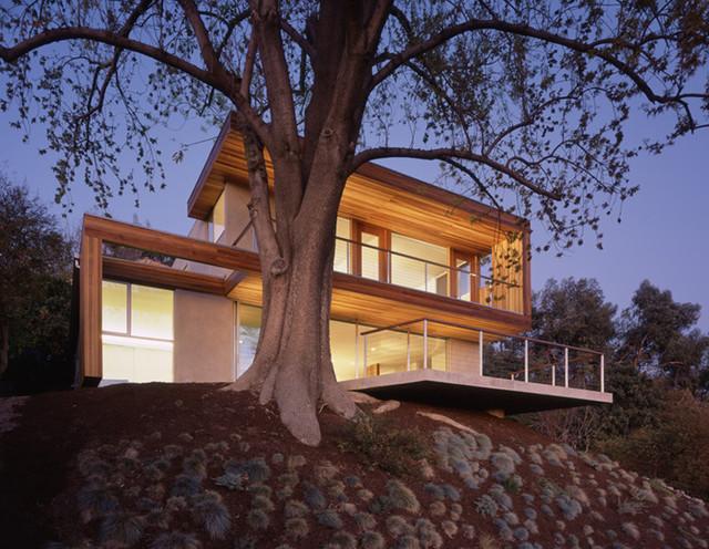 tree house exterior dusk © benny chan modern-exterior