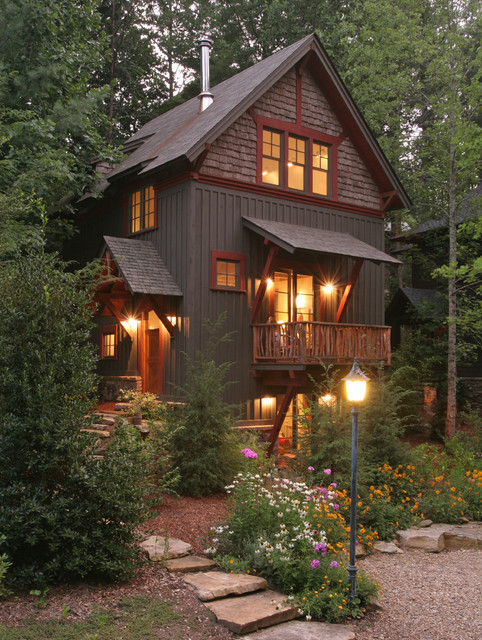 Treehouses At Village Of Cheshire Rustic Exterior