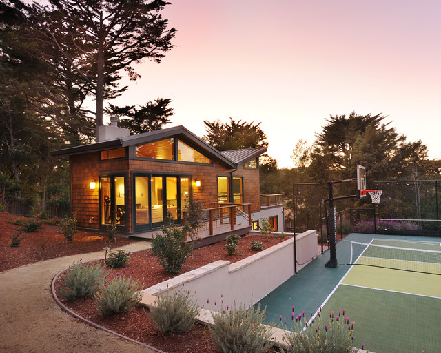 superb build your own basketball court #9: Contemporary Exterior by TRG Architects