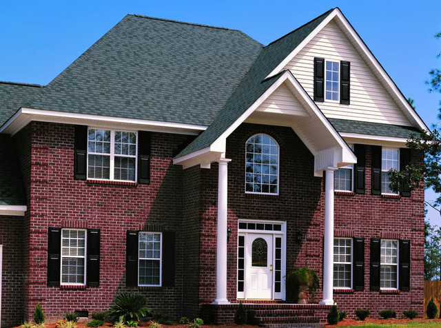 Triangle Brick S Blended Burgundy Traditional Exterior