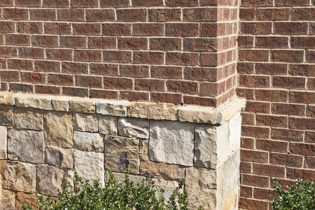 Triangle brick 39 s camden traditional exterior raleigh for Brick stone combinations