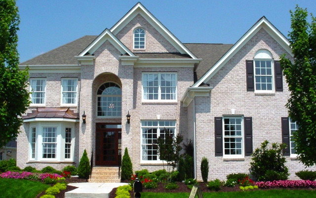 Triangle Brick S Washed White Traditional Exterior