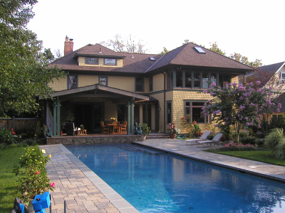 Example of an arts and crafts exterior home design in DC Metro