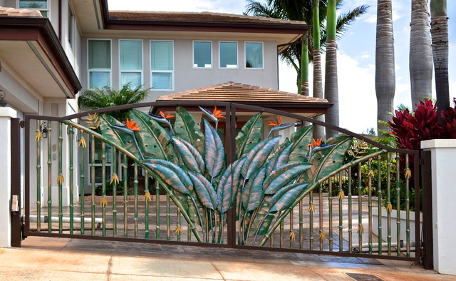 Tropical Entry Gates Tropical Exterior Hawaii By