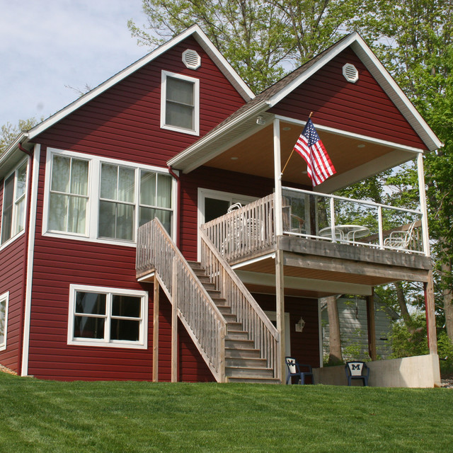 Trucedar Steel Siding 6 Dutch Lap In Cottage Red