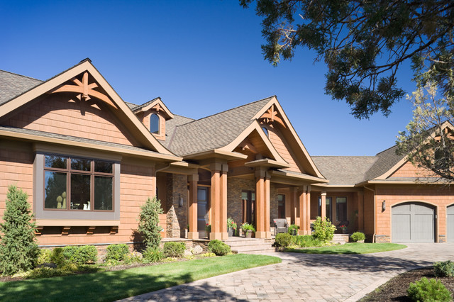 True Residence Rustic Exterior Portland By Alan: house plans mascord