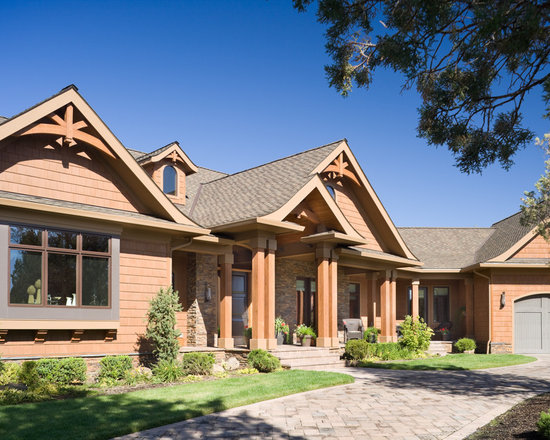 Gabled porch home design ideas pictures remodel and decor Craftsman style gables
