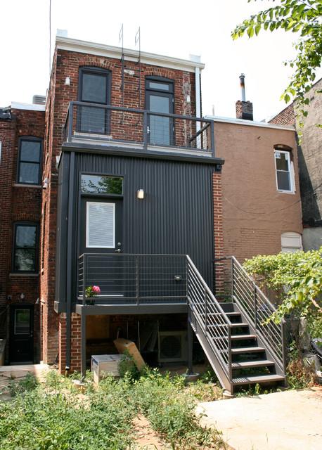 Truxton Circle Row House Rehab Contemporary Exterior