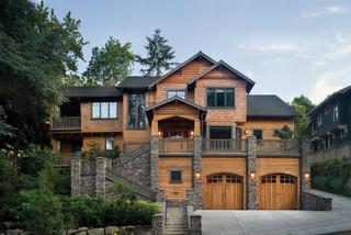 Tubbs residence craftsman facciata portland di for Piani domestici di alan mascord