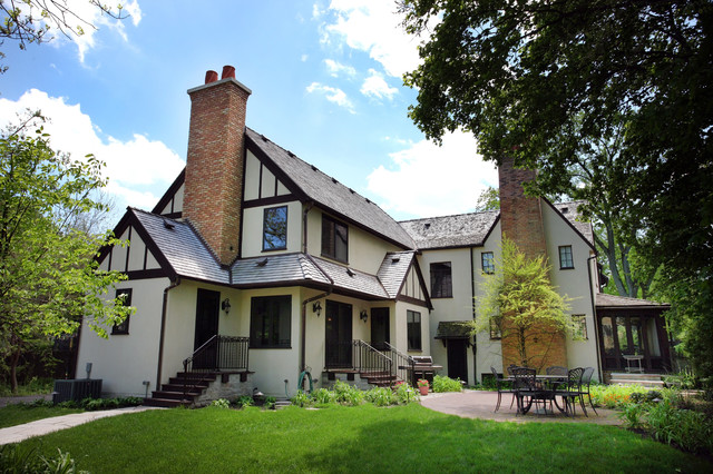 tudor addition traditional exterior chicago by normandy remodeling